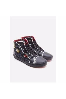 Giày sneakers Geox J Kiwi G. A Black