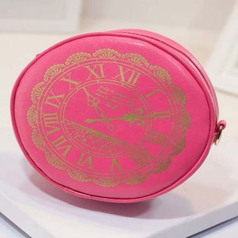 Candy Colors RetroCrossbody Bag (Rose Red) - Intl