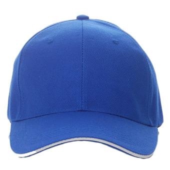 Unisex Plain Baseball Sport Cap Blank Curved Visor Hat (Blue) - Intl