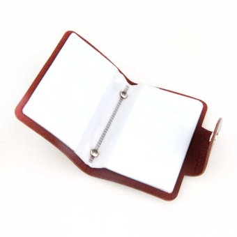 12 Card Position Faux Leather Card Holder Card Pack Card Protector Coffee - intl