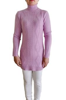 Áo len cao cổ dáng dài MY-01 (Tím)