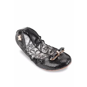 Giày Búp Bê Butterfly Twists Caroline (Bt06002-201) Đen