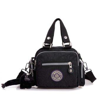 Waterproof Nylon Handbag Shoulder Diagonal Bag Messenger Black