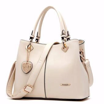 Túi xách móc khóa trái tim sang trọng Hãng DooDoo cao cấp (màu trắng)