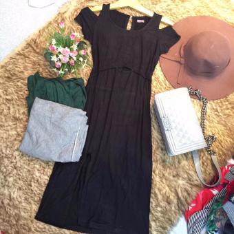 Đầm thun Quảng Châu khoét tay
