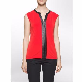 Áo kiểu nữ Calvin Klein cao cấp (đỏ đen)