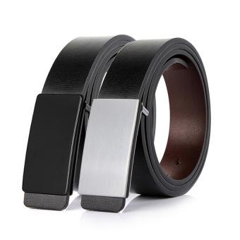 Bộ đôi thắt lưng dây da hai mặt nâu và đen cao cấp MP002 (Đen trắng)