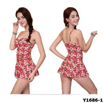 Bộ liền váy Yingfa Y1686-1 (dâu đỏ)