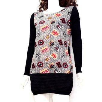 Áo sweater dáng dài MiDu Fashion (Xám)