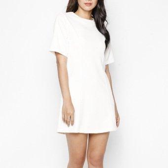 Đầm Trắng tay loe MINT Basic (Trắng)