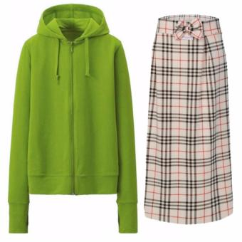 Bộ sản phẩm áo khoác chống nắng nữ tặng kèm khẩu trang + chân váy chống nắng 2 lớp Dma store ( cốm )
