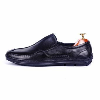 Giày lười nam da thật cao cấp Da Giày Việt Nam - VNLMT01VCT8D (Đen)