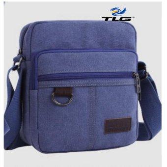 Túi đeo chéo canvas phối da Thành Long TL8109 3(xanh lam)
