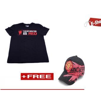 Áo Thun Manchester United E - Shop Design (Đen) + Tặng 1 Nón Mu (Đen)