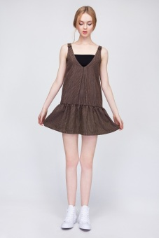 Đầm Candeblanc Drop Hem Shift Brown/Black - S16T074 (Nâu)