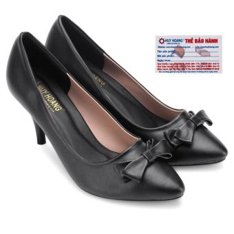 HL7020 - Giày nữ gót cao 7cm Huy Hoàng màu đen