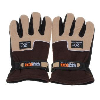Windproof Men Thermal Winter Motorcycle Ski Snow Snowboard Gloves Brown