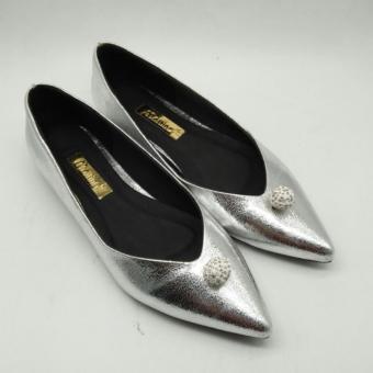 Giày búp bê đính hột ( Bạc )