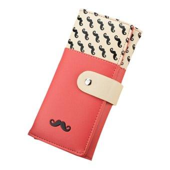Purse L-Wallet Women Korean Card Bag Zipper Leather Handbag Watermelon Red (Intl) - Intl - intl