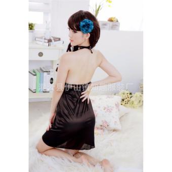 Đầm ngủ yếm thun mát phối ren ngực Chodeal24h (kem)