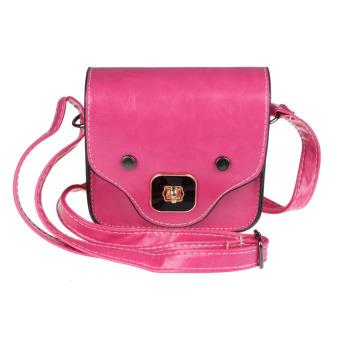 Cute Pig Nose Print Satchel Messenger Shoulder Bag Handbag Cross Body Purse Hot Pink - Intl