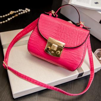 Túi xách mini da bóng xinh xắn-hồng131