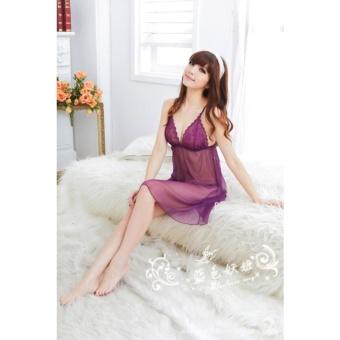 Đầm ngủ quyến rũ violet lai dài Chodeal24h (tím)