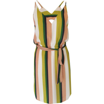 Đầm Công Sở D-201 Color Stripes.