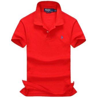 ALL size Casual polo shirt Men Solid polo shirt brands saints men British polo shirts sheep head cotton Short sleeve men (Red) - intl