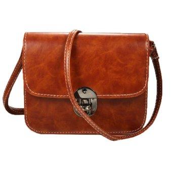 Linemart New Fashion Women Vintage Style Fashion Shoulder Bag Retro Adjustable Strap Cross Bag ( Brown ) - intl