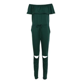Off houder it Knee Cubwear Jupsuit Roperong Trou (Green)