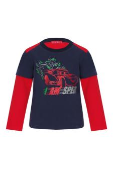 Áo Thun Bé Trai Tay Dài V.T.A.Kids BT41113C-XD (Màu Xanh Đen Phối Đỏ)