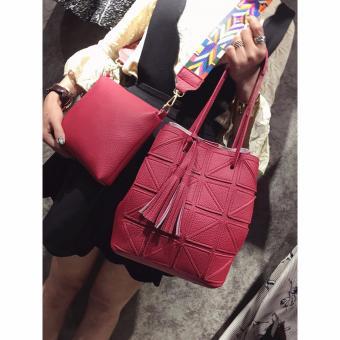 Bộ 01 túi lớn + 01 túi nhỏ dây đeo thời trang (Đỏ)