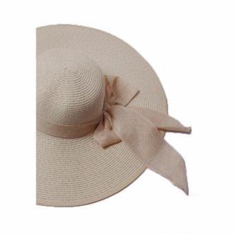 Mũ cói thời trang nữ vành rộng đi biển Salome Fashion cao cấp
