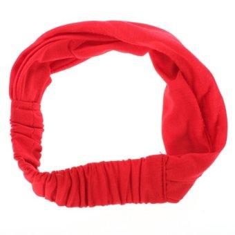 Women's Multi-function Elastic Head Band Scarf Neck Headband Wrap kerchief Hat Red - Intl