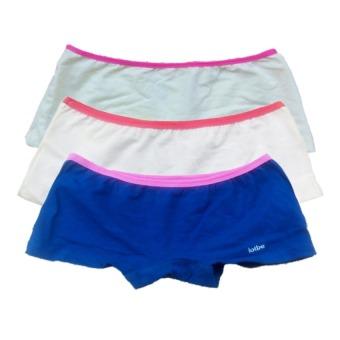 Bộ 3 quần lót đùi bé gái Cotton 100% thun kẹp lotbe