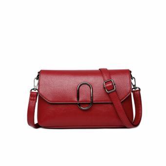 Túi xách nữ da thật phong cách sang trọng AIB060 (Đỏ) - 4288181