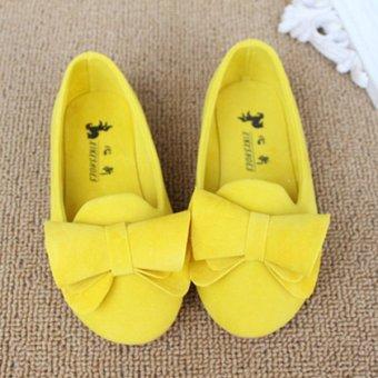 Children Female Flat Sneakers Princess Kids Shoes Sweet Girls Flats Loafers Size 21-30 - Intl