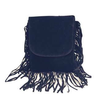 2015New fashion women tassel handbags shoulder bag(black) - Intl - intl