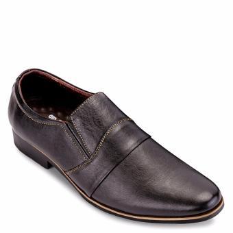 Giày tây da bò mũi nhọn trẻ trung SunPoLo S249D (Đen)