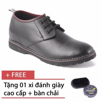 Giày nam công sở tăng chiều cao SMARTMEN GD1-05 (Đen) + Tặng 1 hộp xi đen và 1 bàn chải