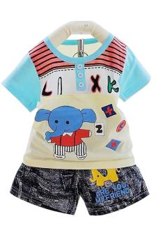 Bộ đồ áo phông quần giả jeans Family Shop PJ03 (Nhiều màu)