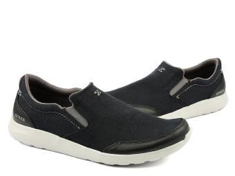 Giày lười nam Crocs Crocs Kinsale Slip-on Black/Pearl White 203051-069 (Đen)