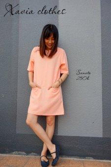 Mua Đầm suông dạo phố Xavia Clothes - Sanato (Hồng) giá tốt nhất