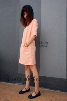 Đầm suông dạo phố Xavia Clothes - Sanato (Hồng)