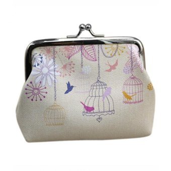 Bluelans Women Bird Wallet Card Holder Case Coin Purse Clutch Handbag Bag White (Intl)