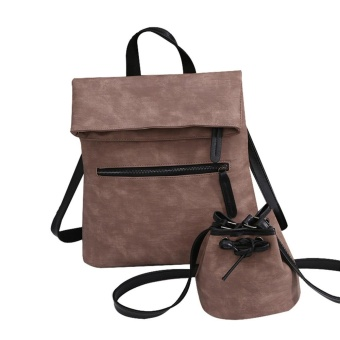 Women Vintage Leather Female Backpack Bags + Shoulder Bags PK - intl