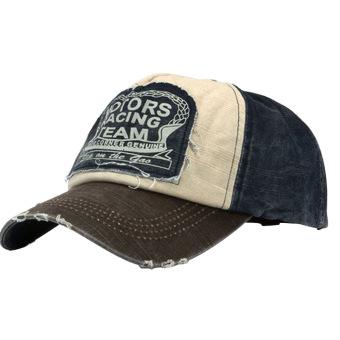Fashion Retro Unisex Boys Girls Adjustable Motorcycle Baseball Cap Hip Hop Snapback Hat Coffee - intl