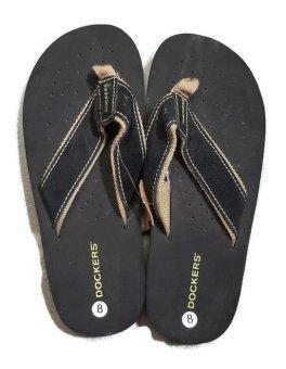 Dép xỏ ngón nam Dockers black slipper (Đen)