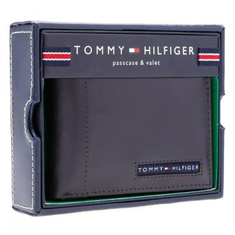Ví da Tommy Hilfiger Men's Cambridge Passcase Wallet (Nâu)